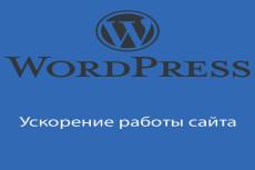 Ускорение работы сайты на WordPress 16 - kwork.ru