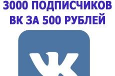 3500 подписчиков в Instagram 4 - kwork.ru