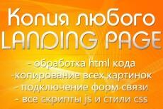 Сделаю копию Landing page, одностраничный сайт 72 - kwork.ru