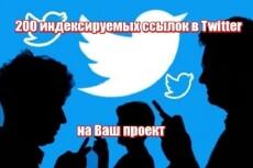 100 ссылок из Twitter. Быстрая индексация сайта 17 - kwork.ru