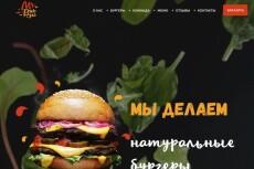 Верстка страницы по макету PSD шаблона 19 - kwork.ru