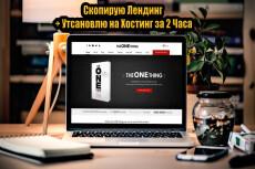 Копия лендинга за 1 час, с установкой на ваш хостинг 10 - kwork.ru