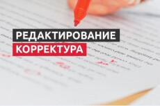 Редактура и корректировка текста 33 - kwork.ru