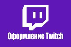 Полное оформление Twitch канала 28 - kwork.ru