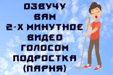 Озвучу вам двух минутное видео голосом подростка, парня 15 - kwork.ru