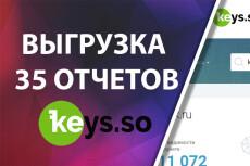 Keys.so: 25 сайтов (все отчеты) выгрузка всех ключей конкурентов 6 - kwork.ru