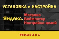 Установка и базовая настройка счетчика Яндекс Метрика 5 - kwork.ru