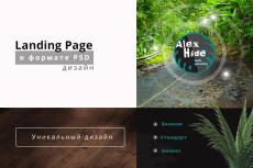 Дизайн одного экрана Landing Page 24 - kwork.ru