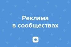 Размещу Вашу рекламу среди 200000 подписчиков ВК 3 - kwork.ru