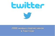 1000 подписчиков в Twitter. Безопасно. Офферы 15 - kwork.ru