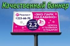 Сделаю два баннера для сайта или страницы ВКонтакте 16 - kwork.ru