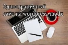 Одностраничный сайт на wordpress 74 - kwork.ru