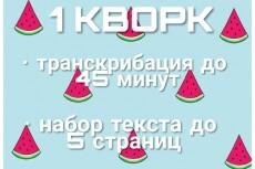 Наберу текст на Word, сделаю таблицы, транскрибация аудио и видео 23 - kwork.ru