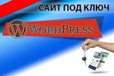 Создание/Редактирование сайта на word press 7 - kwork.ru