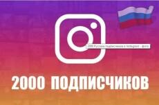 1000 подписчиков в ваш аккаунт инстаграм instagram 17 - kwork.ru