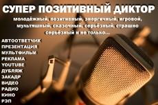 Диктор для ваших проектов 11 - kwork.ru