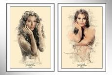 Три варианта стилизованного портрета в разных стилях 26 - kwork.ru