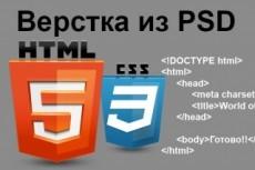 Верстка сайта с Вашего PSD макета 23 - kwork.ru