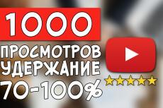 +2500 живых просмотров на видео YouTube 20 - kwork.ru