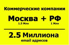 База email адресов - Предприниматели РФ - 500 тыс. контактов 17 - kwork.ru