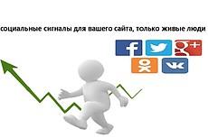 600 социальных сигналов на Ваш сайт. Ссылки из соцсетей 8 - kwork.ru