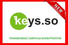 Сделаю выгрузку 4-х конкурентов через Semrush 22 - kwork.ru