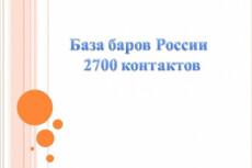 База баров России, собранных вручную 5 - kwork.ru