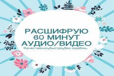 Расшифровка аудио- и видео файлов 23 - kwork.ru