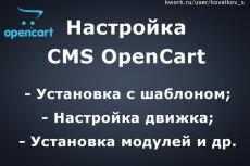 Установка и настройка шаблона на CMS 8 - kwork.ru