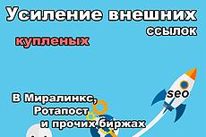 Ручной статейный прогон по 40 чистым сайтам + написание статьи 10 - kwork.ru