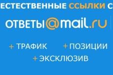 Размещение 10 естественных ссылок в сервисе ответов Mail. Ru 17 - kwork.ru
