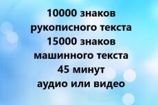 Набор текста в Word , расшифровка видео и аудио файлов 14 - kwork.ru