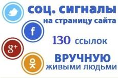 130 ссылок из социальных сетей на ваш сайт 12 - kwork.ru