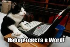Быстро и без ошибок наберу или транскрибирую текст любого характера 14 - kwork.ru