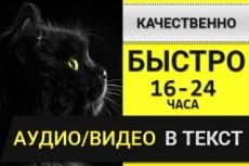 Перевод из аудио и видео в текст, из письменного в электронный 12 - kwork.ru