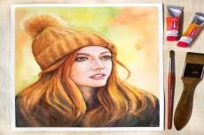 Нарисую Ваш портрет по фото акварелью 10 - kwork.ru
