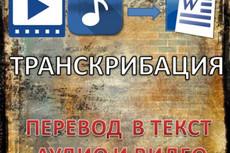 Переведу аудио, видео, фото в текст 49 - kwork.ru