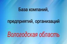 База компаний, предприятий, организаций Московской области 21 - kwork.ru