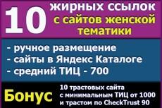 10 ссылок с женских форумов 11 - kwork.ru