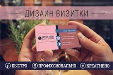 Стильный дизайн визитки 2 Варианта 49 - kwork.ru