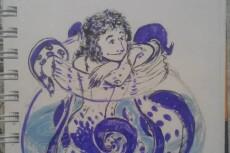 Рисую женщин с формами и не только 44 - kwork.ru