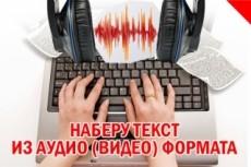 Транскрибация видео, аудио, фото в текст 20 - kwork.ru