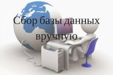 Сбор базы данных вручную в Excel 14 - kwork.ru