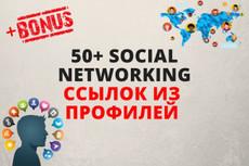Ссылки из профилей WEB 2.0. Зарубежные источники 6 - kwork.ru