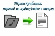 Транскрибация, перевод из аудио и видео формата в текстовый формат 18 - kwork.ru