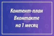 Контент для группы Вконтакте на 1 месяц 22 - kwork.ru