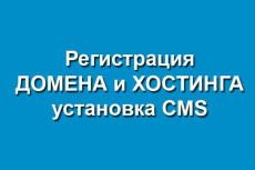 Зарегистрирую Хостинг, Домен, установлю любую CMS 17 - kwork.ru