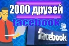Друзья, подписчики на профиль Facebook 100 22 - kwork.ru