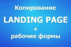 Копия сайта, лендинга, плюс заявки на вашу почту 3 - kwork.ru