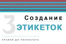 Дизайн этикетки, наклейки 10 - kwork.ru